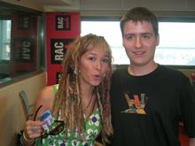 Jo amb la Beth, a l'estudi de RAC1