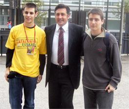 Foto amb Joan Puigcercòs (centre) i Àlex Guilera (esquerra)